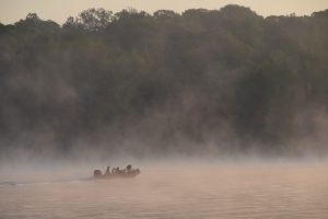 Fishermen departing from Cane Creek Kentucky Lake Marina